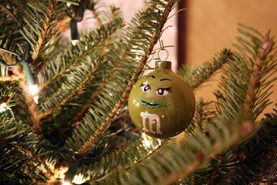 Christmas Tree and Homemade Ornaments