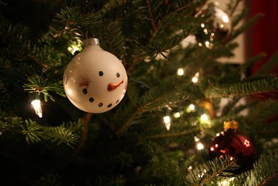 One Dog Woof: Snowman ornament