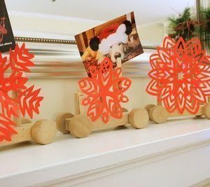 Holiday card holder