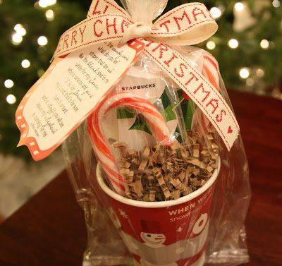 Holiday Starbucks Teacher Gift