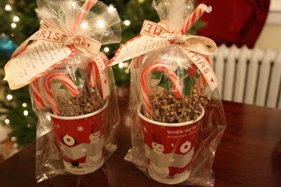 One Dog Woof: Holiday Starbucks Teacher Gift with candy cane poem