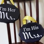 """I'm His Mrs."" Wedding Signs"