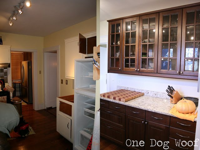 One Dog Woof: Before and After with Ikea Cabinetry