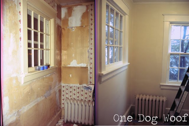 One Dog Woof: Stripping wallpaper