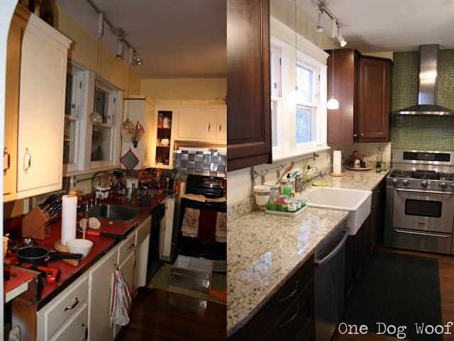 Ikea kitchen before and after | www.1dogwoof.com