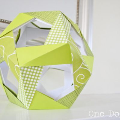 Modular Origami: The Mathematical Anomalies of a 12-Sided Ball?