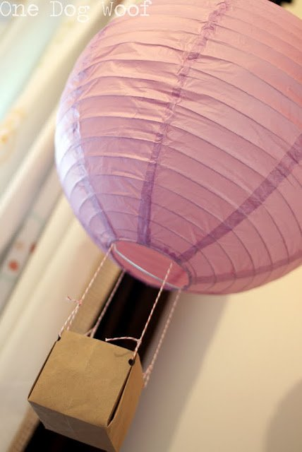 Hot Air Balloon Lantern | One Dog Woof | #paperlantern
