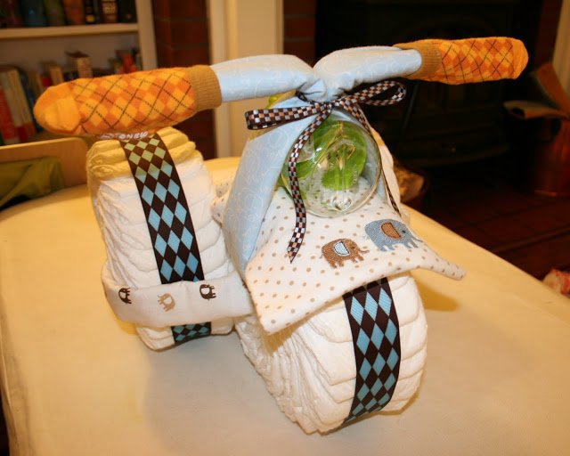 tricycle diaper cake instructions