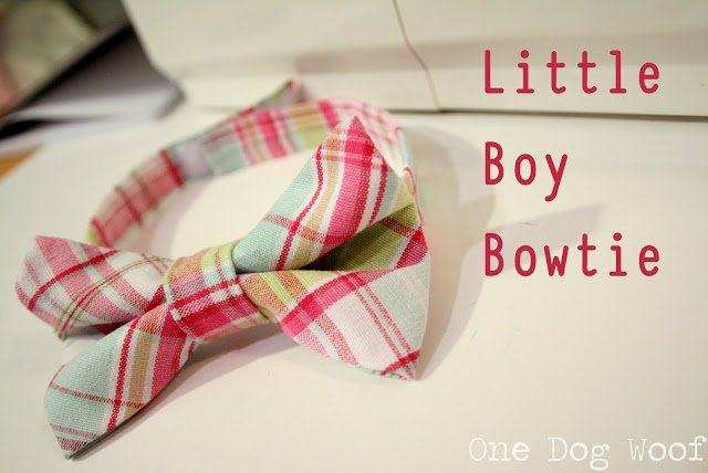 One Dog Woof: Little Boy's Bow Tie Tutorial
