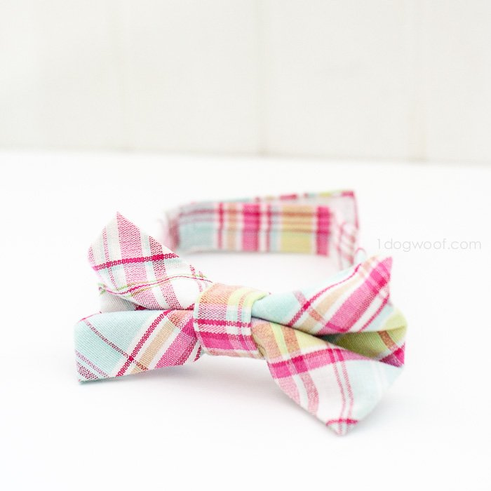 Little Boy\'s Bow Tie Tutorial - One Dog Woof