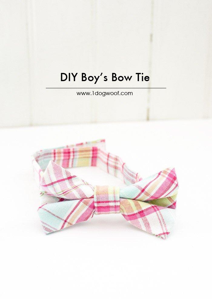 DIY Toddler Bow Tie Tutorial | www.1dogwoof.com