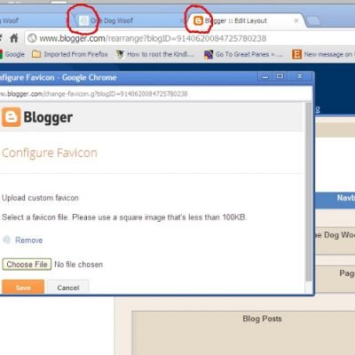 Change your Favicon on Blogger