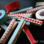 Washi Tape Clothespins to Display Kids' Art