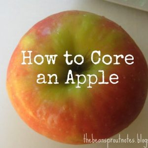 How to Core and Apple