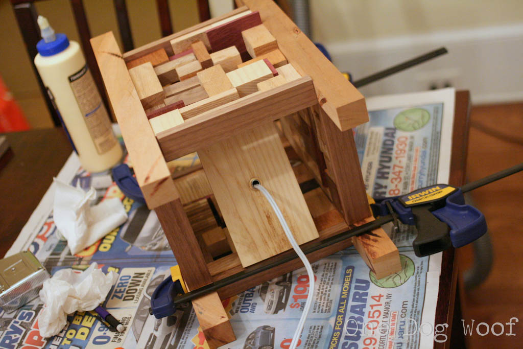 One Dog Woof: Scrap Wood Lantern