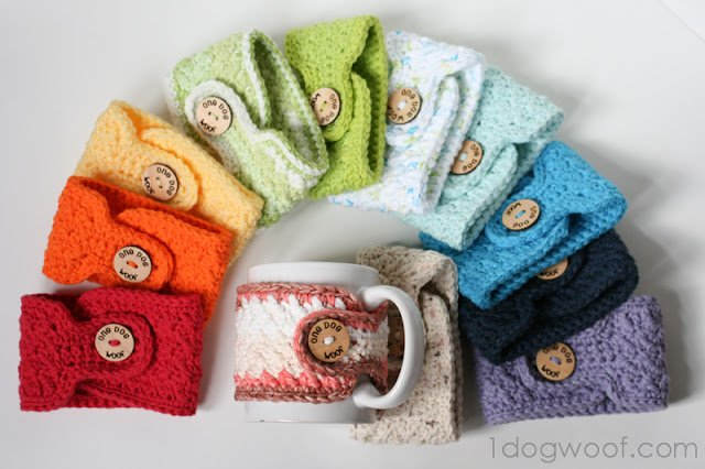 Warm And Toasty Crochet Mug Cozies One Dog Woof