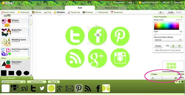 One Dog Woof: Make Your Own Social Media Icons using Ribbet