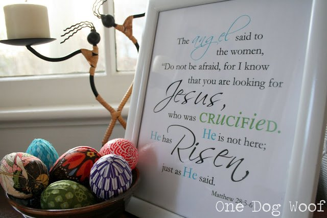 One Dog Woof: Easter Printable He has Risen