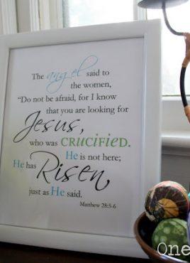He has Risen! Printable