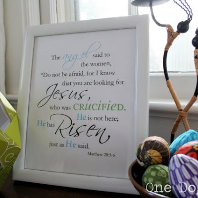 Easter He is Risen Printable