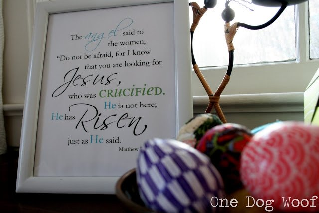 One Dog Woof: He is Risen Printable