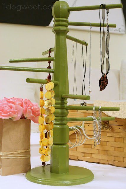 Helix Jewelry Display, made using a table leg | One Dog Woof