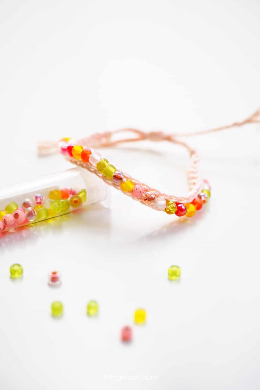 Crochet Beaded Friendship Bracelet