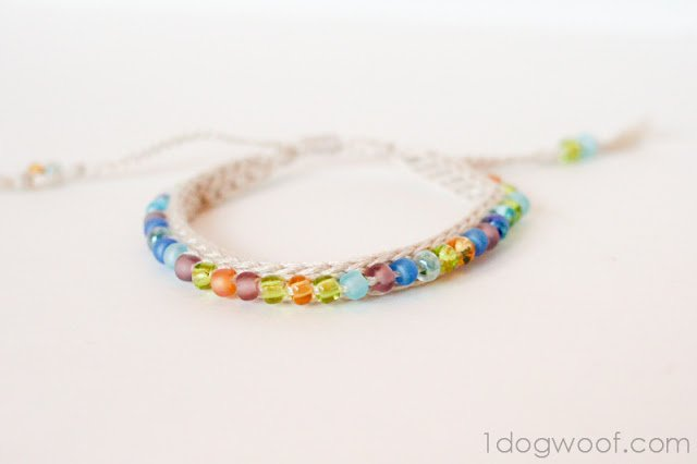 Crochet Beaded Friendship Bracelet