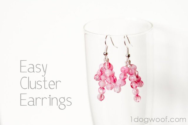 5 Minute Jewelry - Cluster Earrings | One Dog Woof