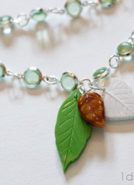 Leaf Pendant Necklace with Martha Stewart Jewelry