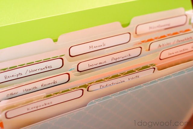 One Dog Woof: Baby Shower Gift - Paperwork folder to keep a new mom organized!