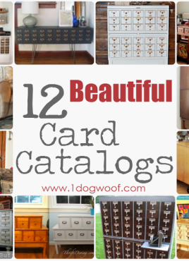 Repurposed Card Catalog Roundup