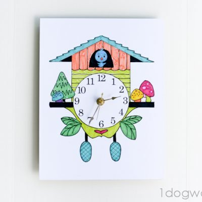 Color and Create Your Own Cuckoo Clock