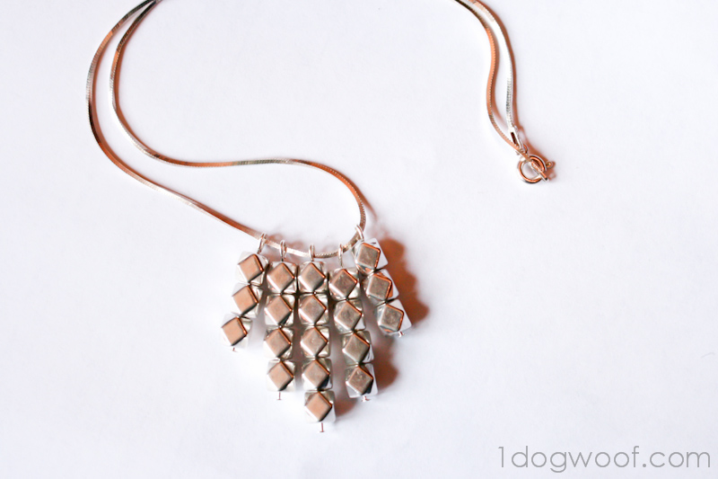 One Dog Woof: Geometric Bead Necklace