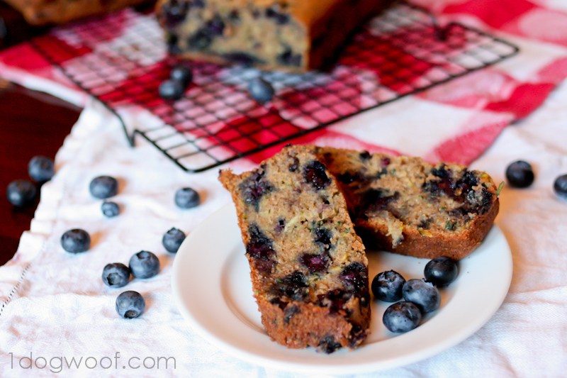 One Dog Woof: Blueberry Zucchini Bread