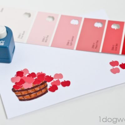 Apple Paper Punch Thank You Cards and Greeting Cards