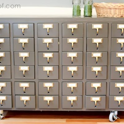 Repurposed Card Catalog Reveal
