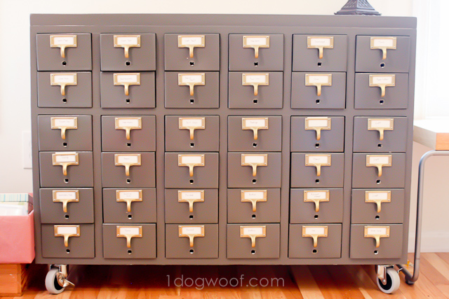 One Dog Woof: Card Catalog Renovation Reveal