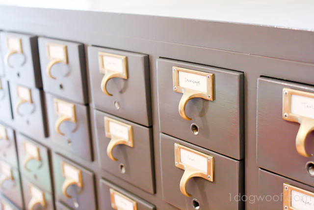 One Dog Woof: Card Catalog Split in Two