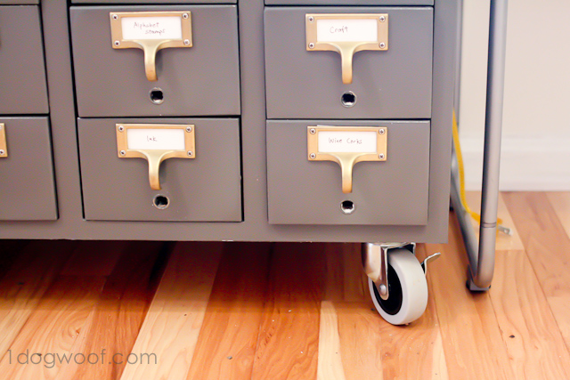 One Dog Woof: Card Catalog with casters