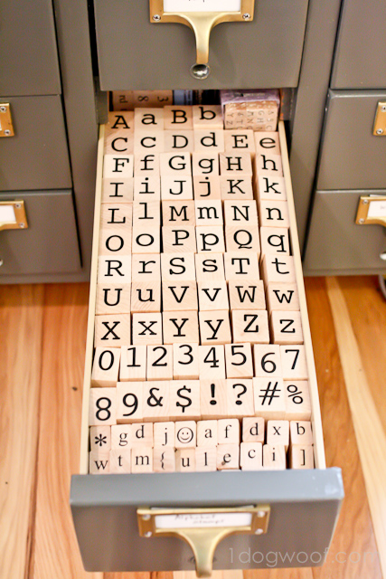 One Dog Woof: Stamps in a Card Catalog