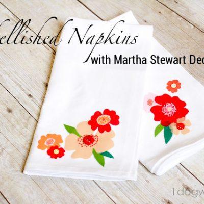 Embellished Napkins with Martha Stewart Decoupage