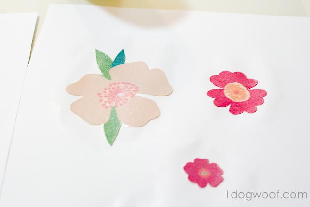 One Dog Woof: Fabric Decoupage