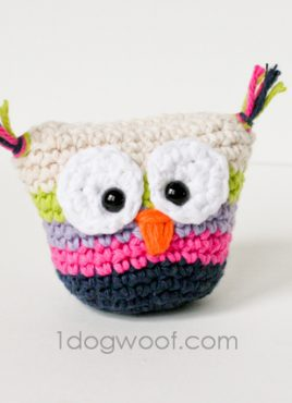 Crochet Owl Pouch with Pattern