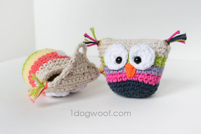 Crochet Owl Pouch with Pattern - One Dog Woof