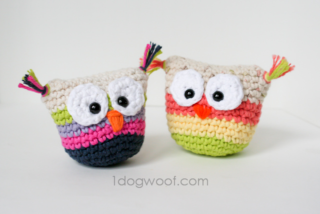 Crochet Owl Pouch With Pattern One Dog Woof