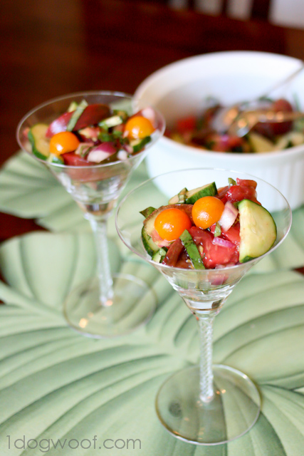 One Dog Woof: Simple Summer Tomato Salad