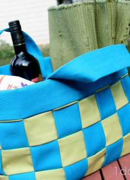 Flashback Friday: No-Sew Woven Canvas Basket