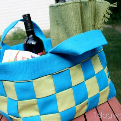 Flashback Friday: No-Sew Woven Canvas Basket