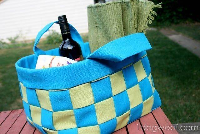 No-Sew Summer Basket Tutorial